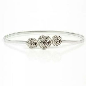 Universal Accessories - Belt Stretchable Metal Woman Small NWOT Roses